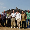 PM Helen Clark and previous NZ Ambassador Phillip Gibson visit the famous Borobodur temple, UNESCO World Heritage site