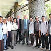 Vice Chancellor Pat Walsh and Pro-Vice Chancellor Rob Rabel of Victoria University of Wellington take a photo with prospective students in Bandung, West Java during a visit to ITB (Bandung Institute of Technology) in September 2011.