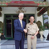 Previous NZ Ambassador Phillip Gibson meets with the Mayor of Jogjakarta Herry Zudianto during the 2006 Jogjakarta earthquake