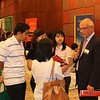 Indonesian students and parents talk to a University advisor at the New Zealand Educational Fair at the Grand Hyatt Hotel in Jakarta, March 2013