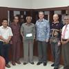 Amb. David Taylor and P.O. David Treacher meet the leadership of Cenderawasih University during a visit in Jayapura, Papua in 2013.