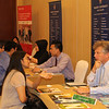 Massey University and Lincoln University booths at the New Zealand Education Fair, Grand Hyatt, Jakarta, March 2013.