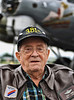 Allen Chapin, with Aluminum Overcast in the background, served in the 381st Bomb Group during World War ll.