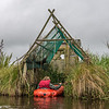 Pack-rafting in the Sinclair Wetlands - parking in the back of a mai-mai