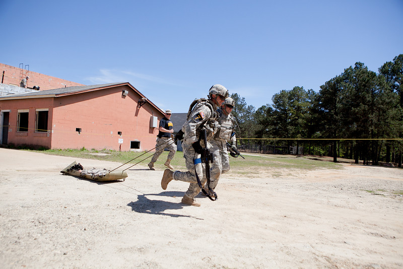 (FORT BENNING, Ga) Day two of the 2013 Best Ranger Competition includes Day Stakes, Malvesti Obstacle Course, Stress Shoot, Foot March and more, April 13, 2013 at Fort Benning. (Photo by Patrick Albright/MCoE PAO Photographer)