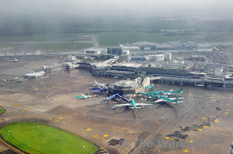 A view of Dublin Airport Terminal One as I departed on EI3302 to Southend. Wed 23.04.14