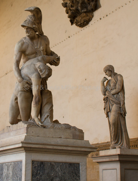 Menelaus supporting the body of Patroclus, Florence, ItalyLoggia della Signoria