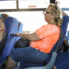 Lady with endless junkfood, on the bus from Eilat to Tel Aviv.<br /> Adds a little adventure to the trip watching a 2 liter bottle of root beer roll around the aisle<br /> while waiting for the person right next to you to open it.<br /> (7/24/14)