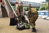 Soldiers at Tel Aviv train station (7/25/14)