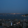 View of Bosphorus at night from Galata Tower
