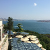 Looking down at cafe from Topkapi Palace