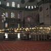 Inside Suleymaniye Mosque. Good view of stained glass