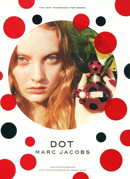 MARC JACOBS Dot 2013 UK (handbag size format with transparency) 'The new fragrance for women