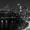 Boston, Mass, March 7,2012; a night photography picture of Boston Skyline. Photo by Brian Chin ©2012