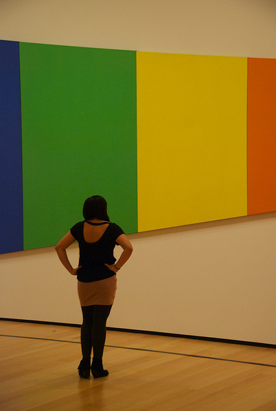 Sunday November 17, 2013 Alli Georgadarellis (CAS '14) admiring contemporary pieces at the Museum of Fine Arts, Boston.