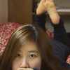 Self portrait of Youn Jung Ho (COM16') in her room at Warren Towers on 11/7/13.