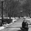 Lisa McCarthy, junior art history major at Boston University, in a park in Brookline, Mass. February 28, 2014
