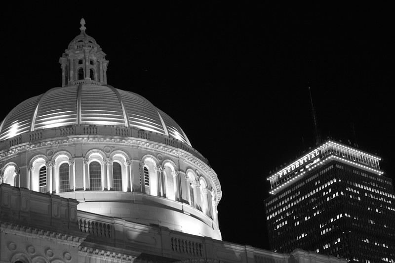Christian Science building on the night of March 7, 2014.