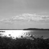 Photo of part of Hingham Harbor a few hours before sunset in Hingham, MA on June 19, 2013. Photo edited with a red filter.