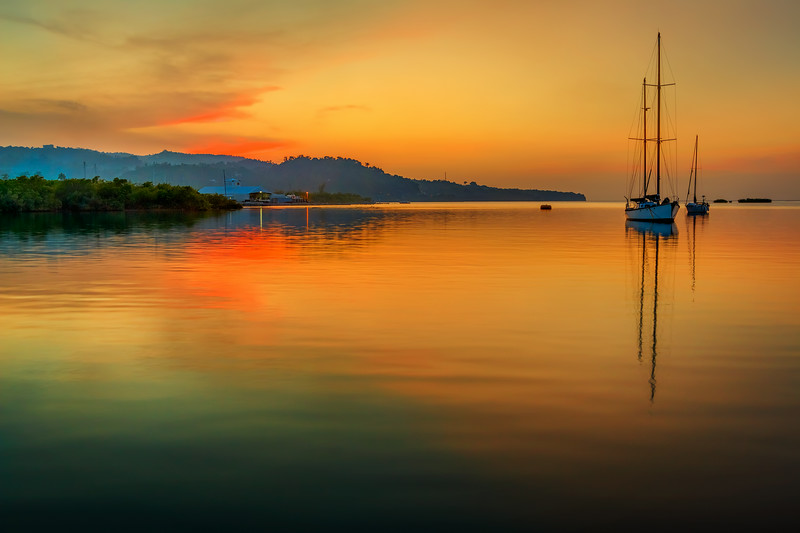 A lovely Evening at Errol Flynn Marina in the Parish of Portland, Jamaica.