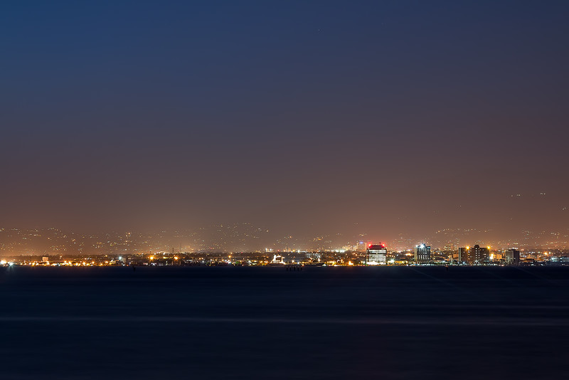 Kingston Jamaica at night from afar..