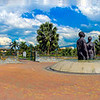 At Emancipation Park, Kingston, Jamaica.