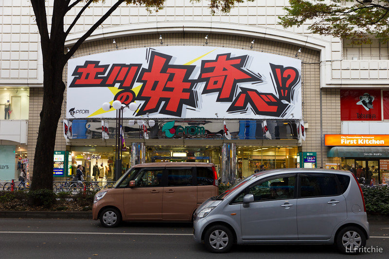 The emphatic characters on this store front look nearly like graffiti – and so unlike the brush calligraphy I'm studying.