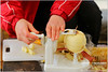 A tool to quickly peel apples