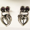 Vintage Bernice Goodspeed Amethyst Sterling Earrings