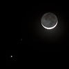 Dark Side of Moon With Venus & Mars