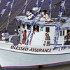 Blessing of the Darien Fleet 2004 on the Darien River - Montage hanging in Darien, Georgia Chamber of Commerce