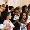 Kindergarten students at Lorain's Toni Morrison Elementary receive third quarter academic awards April 4. STEVE MANHEIM/CHRONICLE