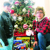 Rex and Ray Young, of Oberlin, pose with the toys they donated this year.