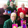 The Masonic York Rites have donated for many years. Pictured are Ed Scrivens, back, Walter Campbell, Thomas Deberry, William Ogg and Douglas Miller.