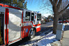 Colorado Springs Fire Engine 3 on the scene of a working fire on Reeve Circle. January 8, 2014