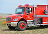Calhan Fire Tender 1462 on scene with Simla FD at a barn fire incident. May 16, 2014