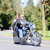 Sue and Steve Edwards enjoy the morning ride for the third annual Firehouse Ride to benefit Newtown Hook & Ladder Company #1. (Bobowick photo)