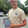 SHERRY VAN ARSDALL   THE GOSHEN NEWS<br /> Will Kercher, a scout with Boy Scout Troop #5, found four pots of marijuana at Abshire Park in Goshen while working on his Eagle Scout project, clearing a trail area of invasive bush honeysuckles.