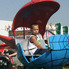 SHERRY VAN ARSDALL | THE GOSHEN NEWS<br /> One of many children enjoying the amusement rides during Disability Awaremenss Day Monday at the Elkhart County 4-H Fair.