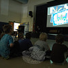 "A slideshow, created by Hawley art teacher Vicki Sheskin, of student artwork, played the song ""Here Comes The Sun"" during an assembly on Friday, December 13. (Hallabeck photo)"