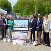 Maplewood Healthcare, LLC broke ground on its new two-story, 26,000-square-foot medical office building on Wednesday, May 21. Among the attendees were, from left: Mike Kozwalksi, Claris Construction; Andrew Deery, Hunter Gregory Realty; Gregory Smith, Maplewood Senior Living; Elizabeth Stocker, Newtown Economic and Community Development; Newtown First Selectman Pat Llodra; Christopher Smith, Allegiance Realty; Tim Hass, Newtown Chamber of Commerce; Phil Clark, Claris Construction; and Eric Maria, Claris Construction. (Voket photo)
