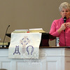 Local CWU Celebrations Chair Linda Manganaro spoke March 8 when the Newtown/Danbury unit of Church Women United hosted its annual Human Rights Celebration at Newtown Congregational Church. (Hicks photo)
