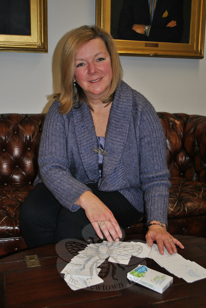 Kathie Nitz, a life and relationship coach, has developed Caring Cards, an easy and fun means of prompting conversations with the elderly, as well as between other family members.   (Crevier photo)