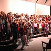 """Sandy Hook School fourth grade students rehearsed performing """"Reindeer Boogie"""" during the day on Thursday, December 4, for their Winter Concert, which was held that evening. (Hallabeck photo)"""