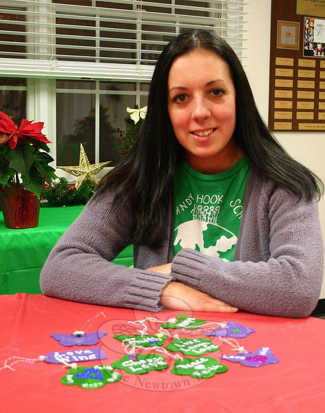Sandy Hook native Ashley (Bochino) Petersen organized and recently oversaw the Second Annual 26 Days of Kindness Event, which encouraged people to do something nice in honor of those killed on 12/14. Each day honored a different woman or child, and participants were encouraged to share their acts of kindness — whether they did something nice, or had something nice done for them — on a Facebook event page Mrs Petersen organized and constantly maintained. (Hicks photo)