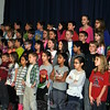 Members of the Middle Gate Fourth Grade choir perform for their school mates, Tuesday, January 13, singing a medley of winter songs. (Crevier photo)