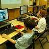 Students in Tim McGuire's Introduction to Computer Programming Using Scratch 2.0 worked on their programs Thursday, July 10. (Hallabeck photo)