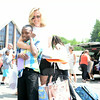 Fairfield resident Meg Staunton welcomes Tyshawn Wilson back for another summer visit with her family. (Bobowick photo)