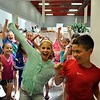 Head O' Meadow fourth grade students, including Ellie Meyer, center, danced before the final bell of the 2014-15 school year on Wednesday, June 17. (Hallabeck photo)