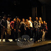 Newtown High School students in the musical production of City of Angels rehearsed on Friday, March 13. (Hallabeck photo)